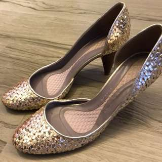 Anya hindmarch Gold heels in size 38