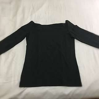 Zara off-shoulder black top