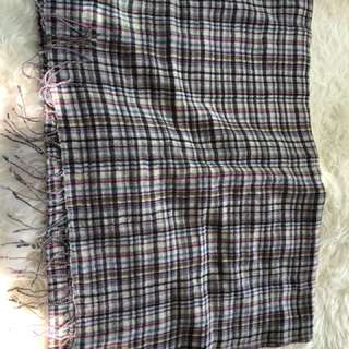 New Agnes b checked wool scarf/wrap