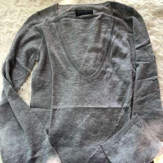 New zadig & Voltaire grey cashmere pull