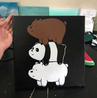 We Bare Bears Custom Canvas Painting