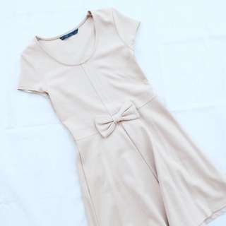 Zara Brown Ribbon Dress
