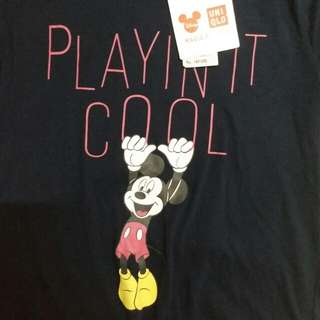 Uniqlo Mickey Mouse Navy Tee