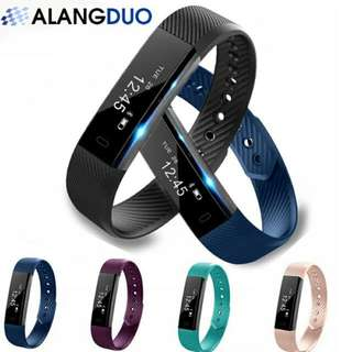 (In Stock) ALANGDUO Smart Bracelet Fitness Tracker Watch Alarm Clock Step Counter Smart Wristband Bluetooth Sport Sleep Monitor