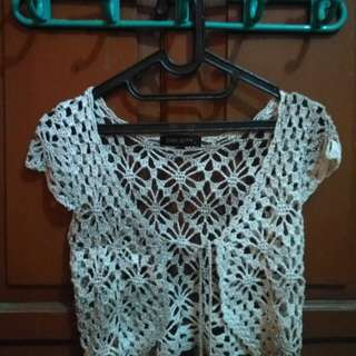 Crop Top Jaring / Net Wanita by Simplicity