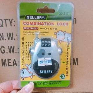 Sellery 牛形密碼鋼線鎖