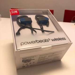 99% new blue/grey Powerbeats sports wireless headset
