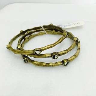 NEW NARAE bracelets set vintage gold 寶石款復古金手扼套裝