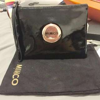 Black and Rose gold Mimco Pouch Medium