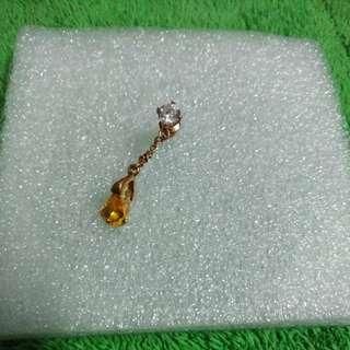 鑽石+黃寶石~耳飾