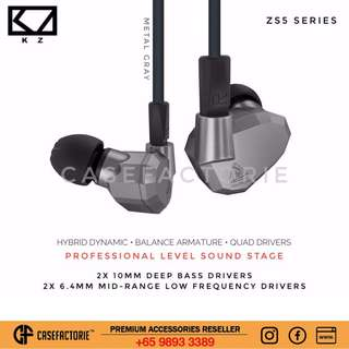 Kz Zs5 Series Audiophile Wired/wireless Bluetooth Stereo Earpiece Earbud