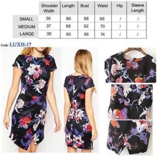 Flora Black Dress