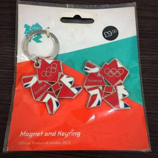 2012 London Olympic magnet and keyring