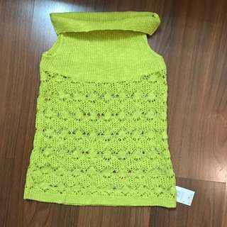 Neon knit top