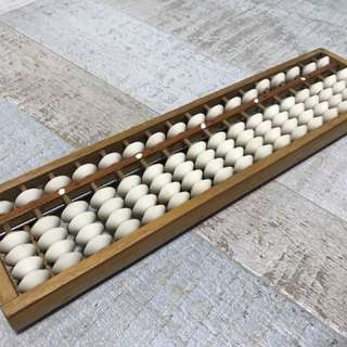 Vintage Abacus with Reset Button