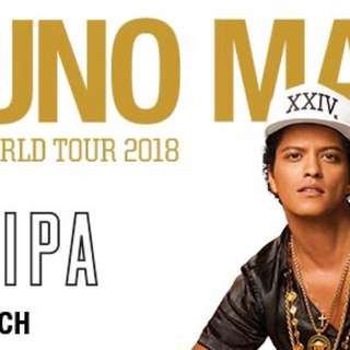 Selling 1x BRUNO MARS TICKET REAR SEATING