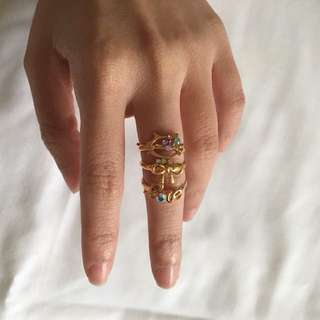 Gold Kitty Love Ring