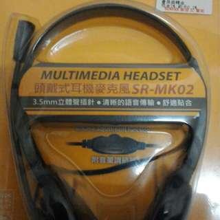 🚚 INTOPIC廣鼎SR-MK02頭戴式耳機麥克風