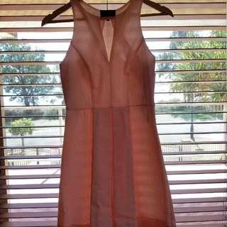 Wayne Cooper cream and orange polka dot dress
