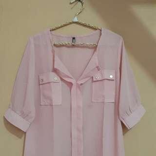 Pink peach top