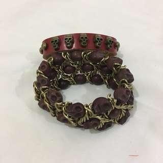 Skull Bracelet Set 2