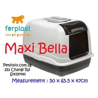 Ferplast Cat Litter Box Toilet Home Maxi Bella Cabrio