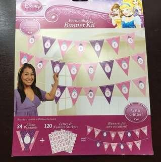 Disney Princess Personalized Banner Kit