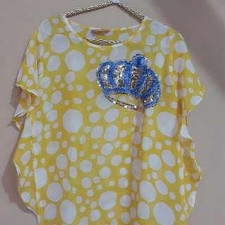 Yellow polkadot top