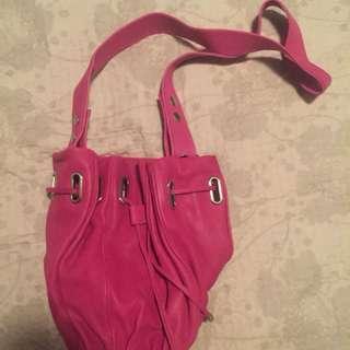 Mimco Burgandy Bucket Bag