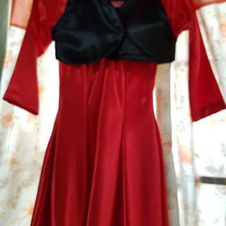 red long gown for kids _ 4 to 5 years old