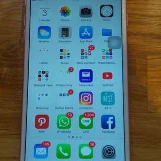 Jual iphone 6s+/plus 128gb