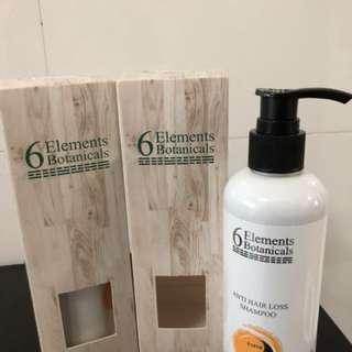 6 Elements Botanicals Anti Hair Loss Shampoo (2 bottles)