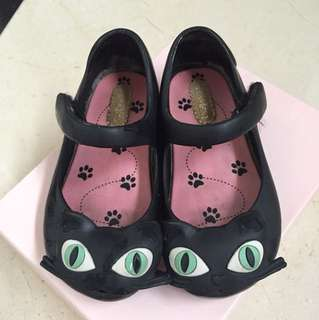Mini Melissa black kitty shoes size euro 22/23 US 7 *authentic*