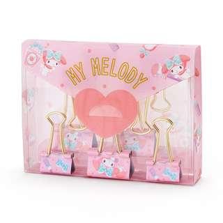 Sanrio 日本正版 My Melody Happiness系列 夾仔 連盒