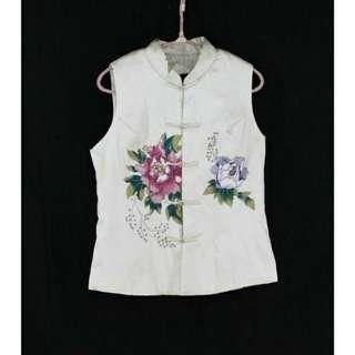 🚚 大出清~不議價…※專櫃品牌※【HUA SHAO】印花棉襖背心外套