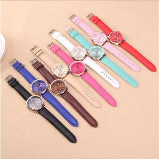 Jam Tangan TEMPTER Brand Fashion Leather Quartz for Women