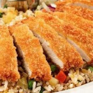 Nasi goreng chicken katsu 😉