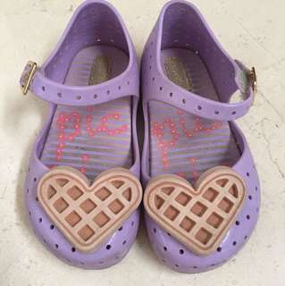 Mini Melissa purple waffle shoes size US 8