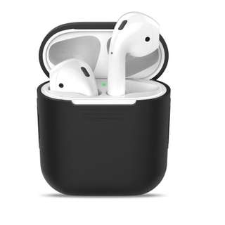 [IN-STOCK] Airpod Case - Soft Silicone Protective Cover Black Anti Scratch and Slip for Apple Airpods Charging Case (Black)