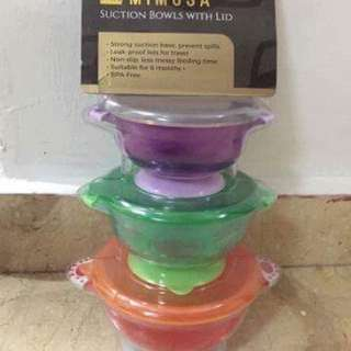 Mimosa Suction Bowls with Lid