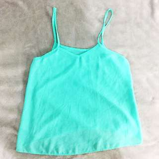 Mint Green Flowy Top