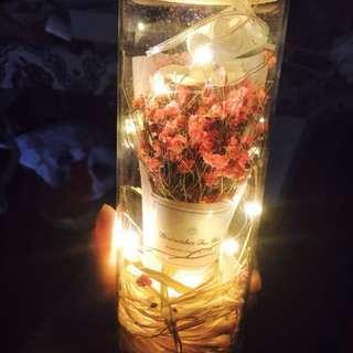 💑情人節精選禮物❤️  🌹超美閃閃發光滿天星許願瓶💐