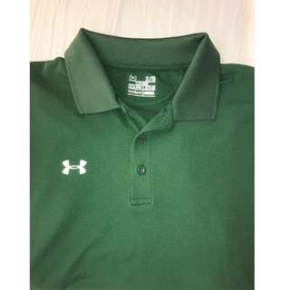 Underarmour green golf shirt
