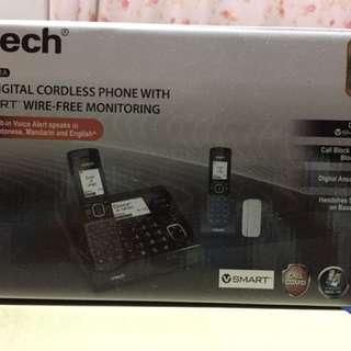 全新未開封VTech (VC7151-202A)數碼室內無線電話雙子機組合連VSMART無線家居監控(開關感應器)