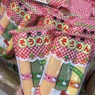 🇯🇵日本直送🔹Hello Kitty三色蔬菜麵