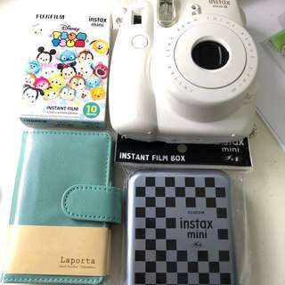 Fujifilm instax camera accessories set (Disney Tsum Tsum film, La Porta instax album) INSTAX NOT INCLUDED