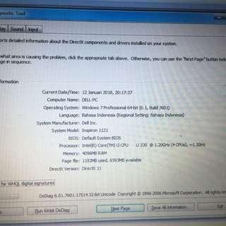 Core I3 Ram 4GB Dell inspiron