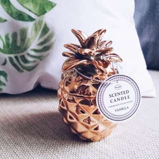 H&M inspired vanilla scented pineapple candle / decoration