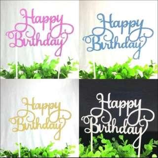 [PROMO!] Happy Birthday Cake Topper