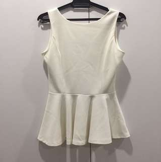 Peplum White Top
